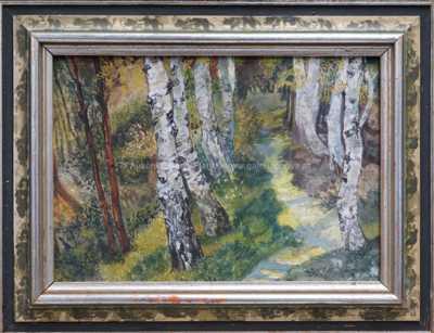 Alois Kalvoda - Břízy v lese