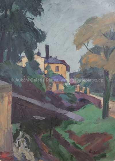 Jan  Kojan - Lávka přes potok