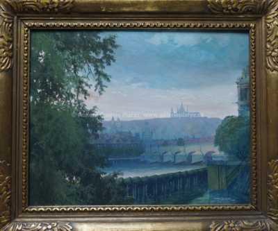 Autor neurčen - Pohled na Pražský hrad