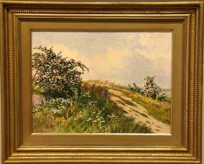 Gustav  Porš - Šípkový keř v květu