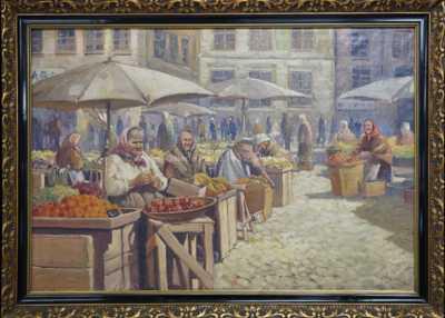 Antonín  Augusta - Trh na Staroměstském náměstí