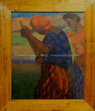 Alois Bílek - Žně v Provence