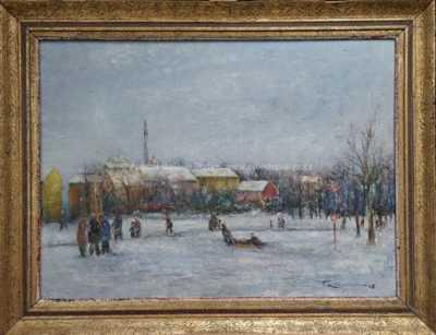 Ferdinand Kotvald - Poděbrady v zimě
