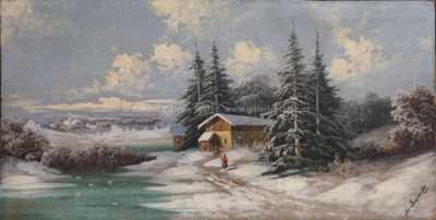 Josef Jacob Burgaritzky - Zimní nálada