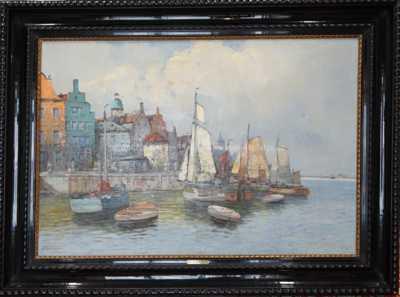 Hans Johann Wagner - Lodě u mola