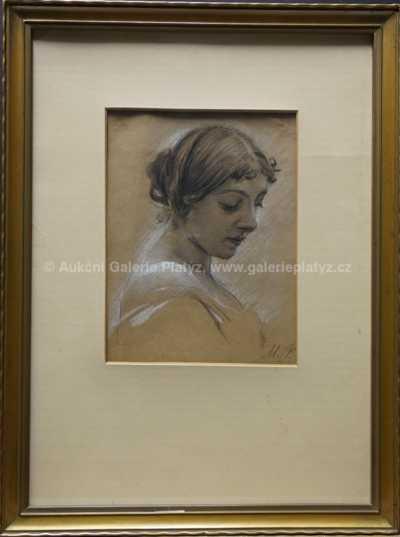 Maxmilian Pirner - Hlava dívky