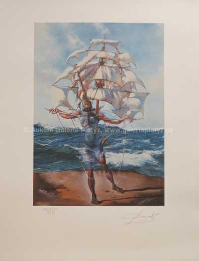 Salvador Dalí - Costume for Tristane