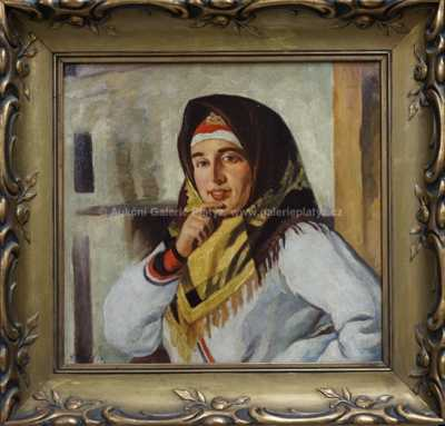 Nikolaj Bakulin - Dívka s šátkem