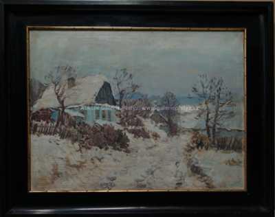 Karel Schadt - Zimní vesnička