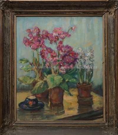 Václav  Dobrý - Květinové zátiší
