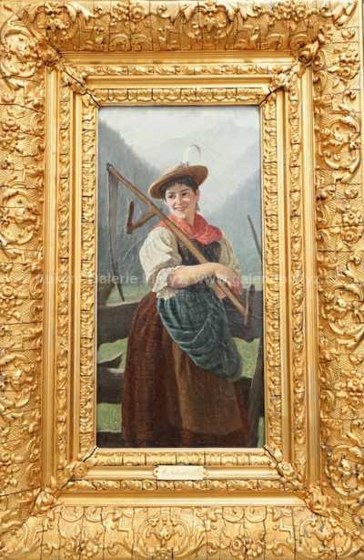 Adolf von Schwarzenfeld - Dívka s kosou