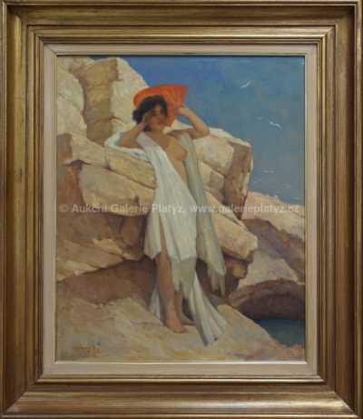 František Horejc - Dívka s vějířem