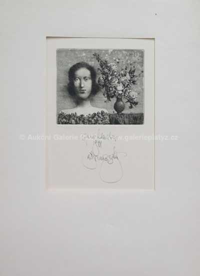 Albín Brunovský - Dívka s růží