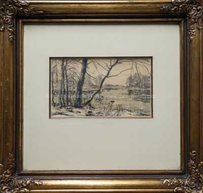 Alois Kalvoda - Na břehu rybníka