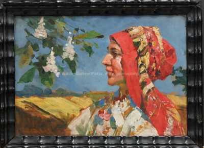 Viktor Oliva - Děvče v šátku