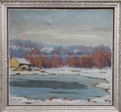 Miloš Bílý - V zimě na rybníce