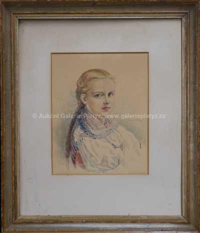 Josef (Joža) Koudelka - Portrét dívky