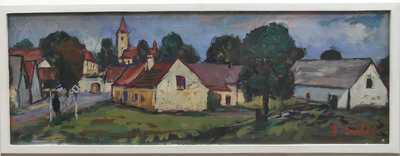 František Emler - Jihočeská vesnice