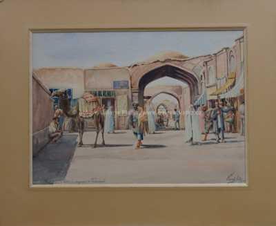 Karel Kügler - Bazar v Teheráně