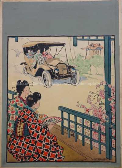 Antonín Brunner - Japonky v automobilu