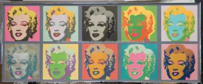 Andy Warhol - 10 x Marilyn