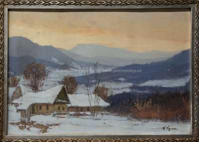Antonín  Augusta - Zimní červánky