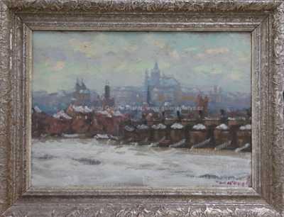 Václav  Kozák - Zamrzlá Vltava