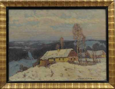 Otakar Hůrka - Chaloupka v zimě