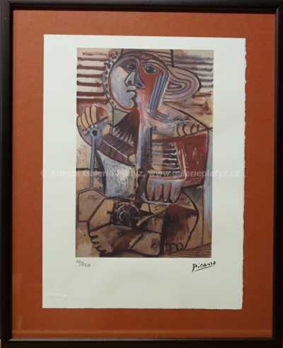 Pablo Picasso - Sedící žena