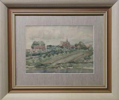František  Foltýn - Pohled na vesničku