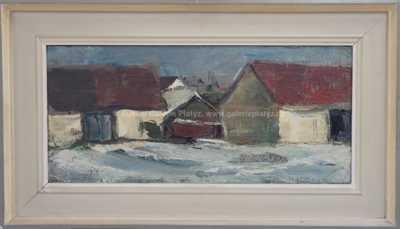 Emanuel Famíra - Stodoly v zimě