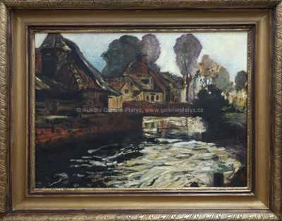 Franz Thiele - Lávka přes potok