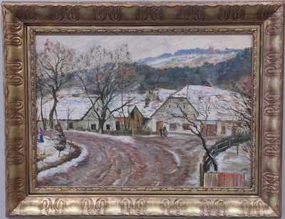 František Kaván - Zimní náves