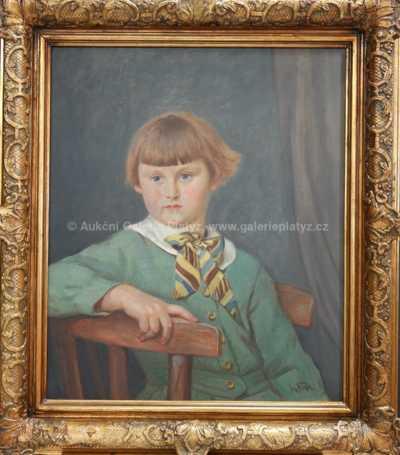 Josef Fiala - Portrét dívky