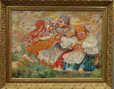 Otto Molitor - Děvčata v krojích