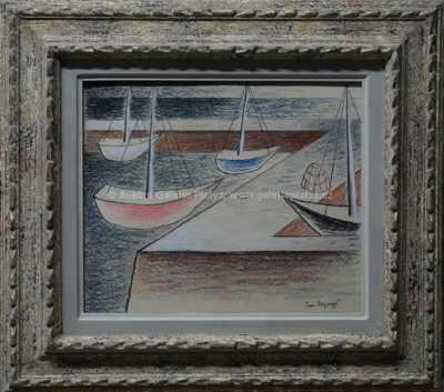 Jan  Zrzavý - Tři lodi, langustiera a špice lodi