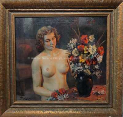 Antonín Bukolský - Dívka s květinou