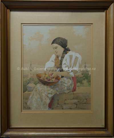 Karel Šimůnek - Dívka s ovocem