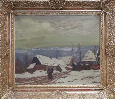Autor neurčen - Zimní vesničkou