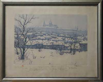 František Tavík Šimon - Pražský hrad v zimě