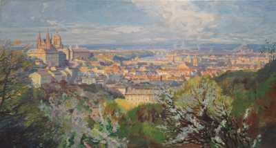 Jaroslav Šetelík - Pražské panorama z Petřina