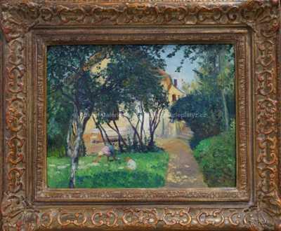 Josef Multrus - Děti v zahradě