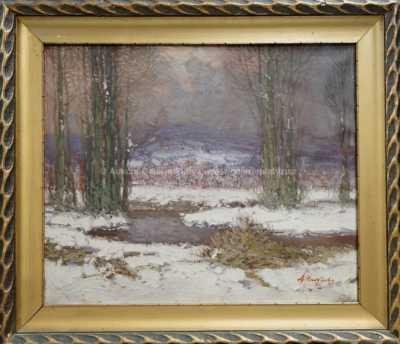 Antonín  Augusta - Zimní potok