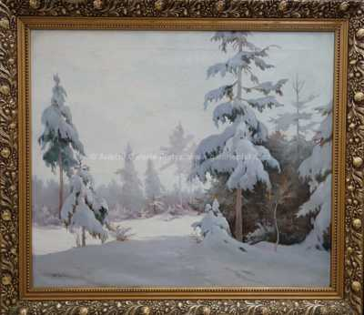 František M. Skula - Zima v lese
