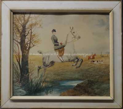 Julius von Blaas - Sissi na lovu