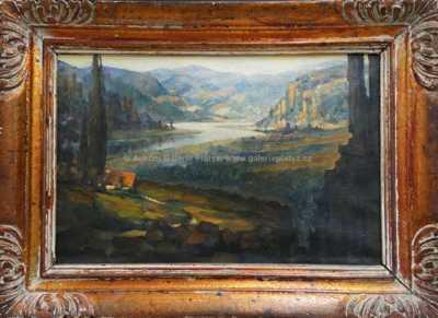 Ivan Anisimov - Západ slunce nad řekou
