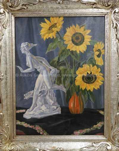 Autor neurčen - Zátiší se slunečnicemi