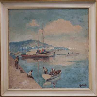 Josef  Svoboda - Rybáři na Jadranu