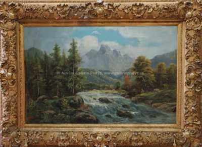 Autor neurčen - Horská řeka