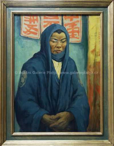 František Tavík Šimon - Japonec v modrém kimonu